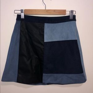 Suede and leather Abercrombie skirt